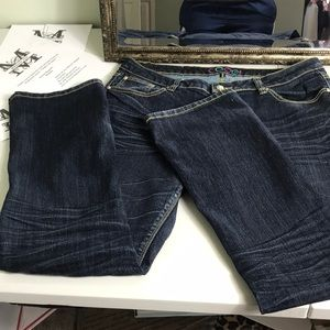 Coogi bootcut distressed jeans preowned size 15/16